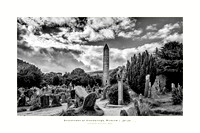 Glendalough and Round Tower, Co Wicklow.